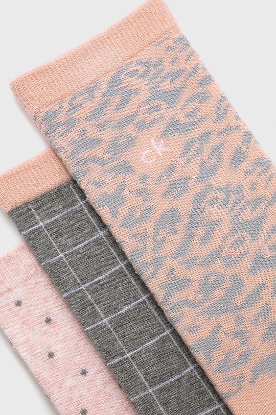 Calvin Klein - Ponožky (4-pack) starorůžová