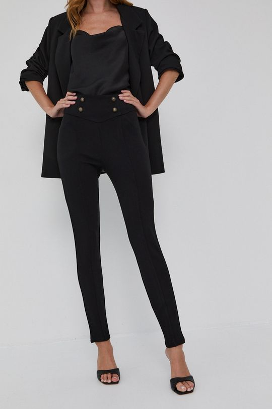 czarny Guess - Spodnie Damski