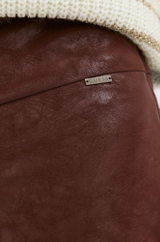 kawowy Guess - Spodnie