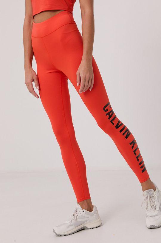 pomarańczowy Calvin Klein Performance - Legginsy Damski