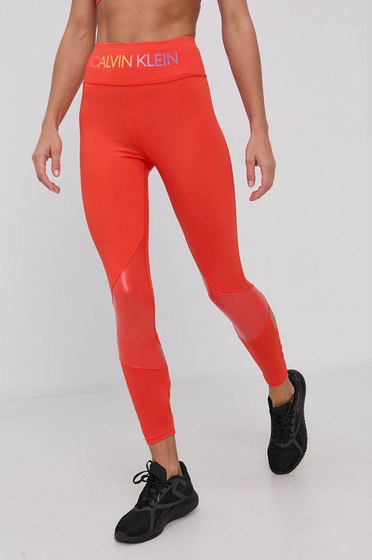 oranžová Calvin Klein Performance - Legíny Dámsky