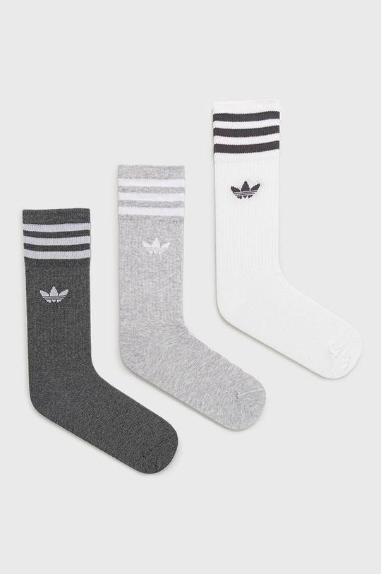 szary adidas Originals - Skarpetki (3-pack) Damski