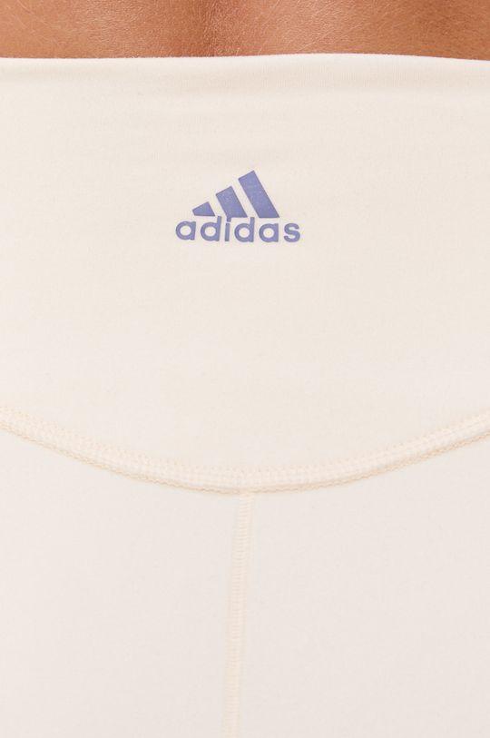 kremowy adidas Performance - Legginsy
