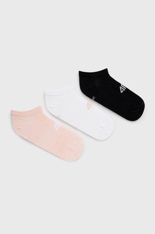 ružová 4F - Ponožky (3-pak) Dámsky