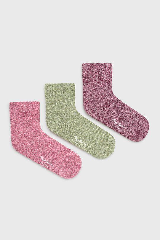 roz Pepe Jeans - Sosete Beliz (3-pack) De femei