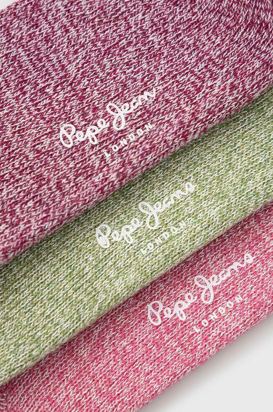 Pepe Jeans - Sosete Beliz (3-pack) roz