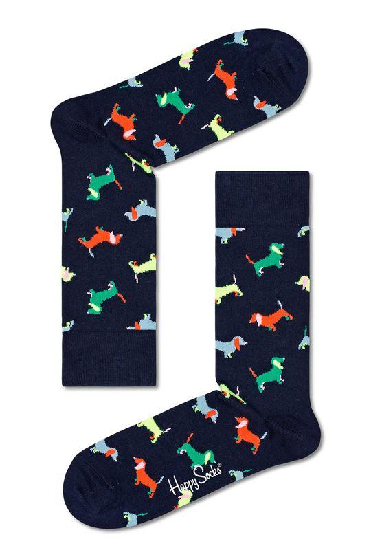 fioletowy Happy Socks - Skarpetki Puppy Love Damski