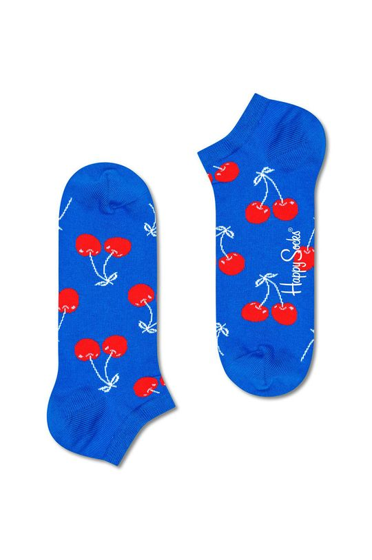 modrá Happy Socks - Ponožky Cherry Low Dámský