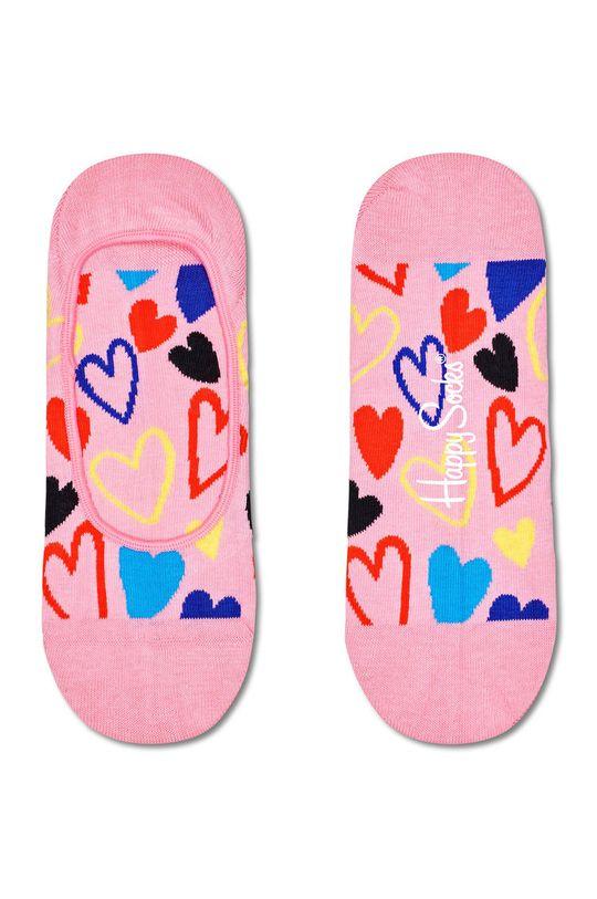 růžová Happy Socks - Ponožky I Heart U Liner Dámský