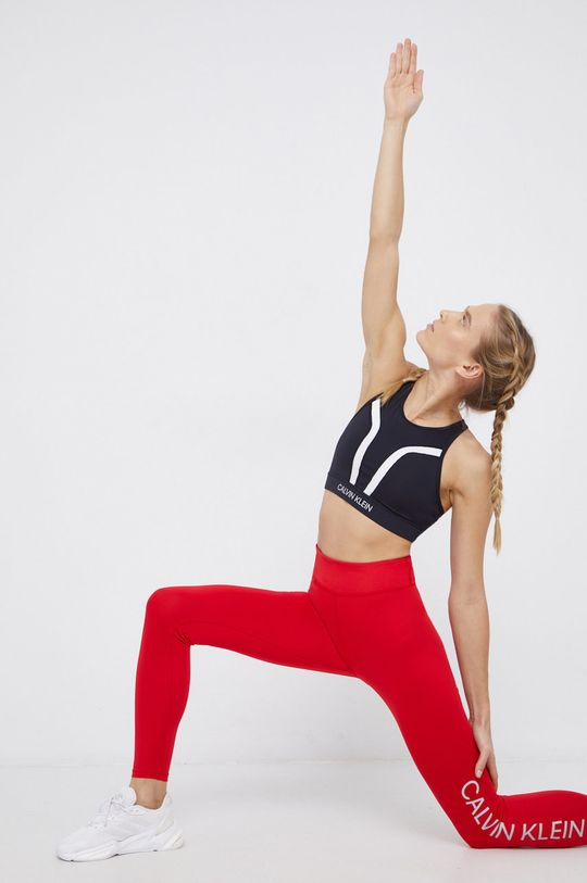 czerwony Calvin Klein Performance - Legginsy Damski