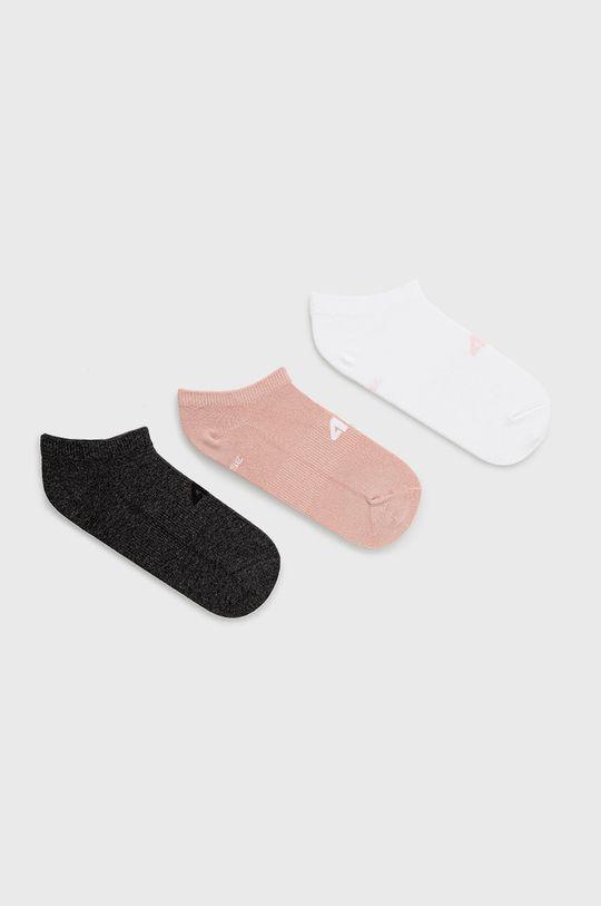 ροζ 4F - Κάλτσες (3-pack) Γυναικεία