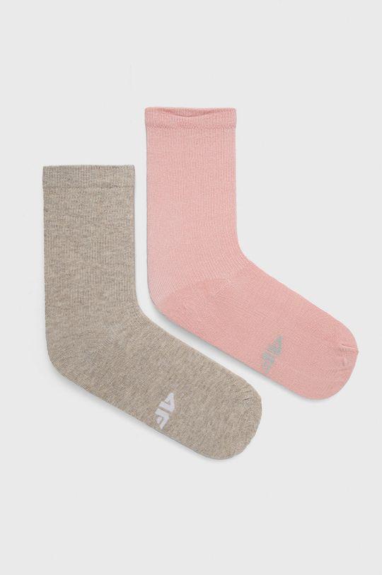 ροζ 4F - Κάλτσες (2-pack) Γυναικεία