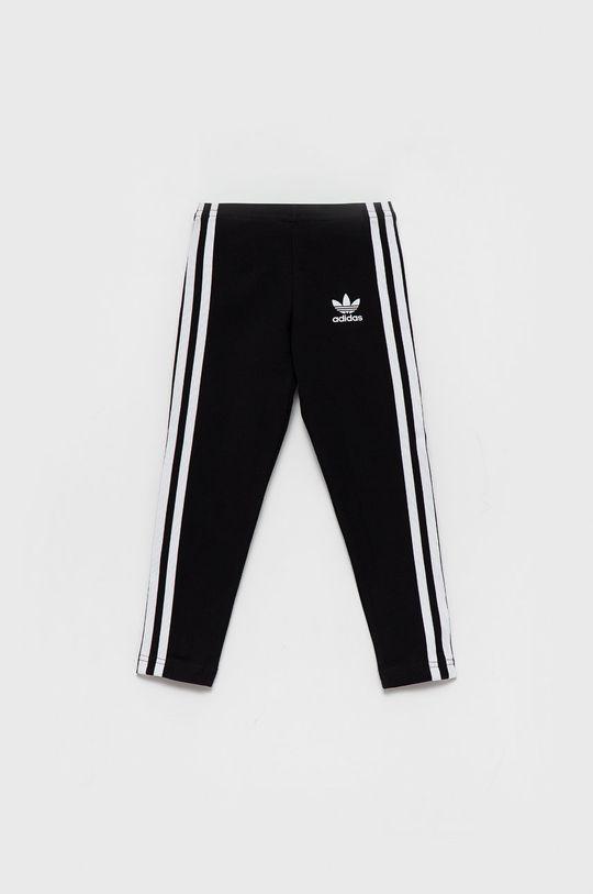 czarny adidas Originals - Legginsy dziecięce Dziewczęcy