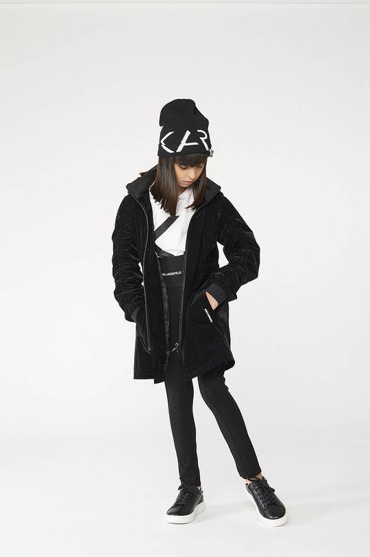 čierna Karl Lagerfeld - Detské legíny Dievčenský