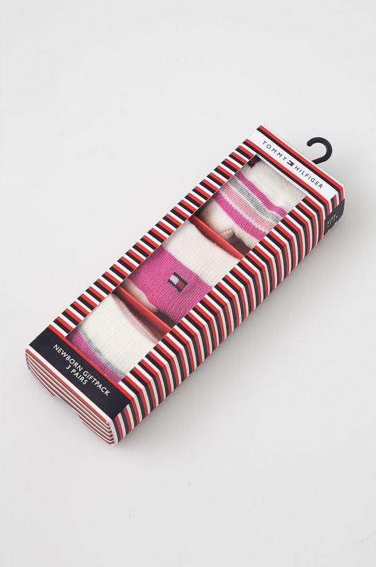 Tommy Hilfiger - Skarpetki dziecięce (3-pack) różowy