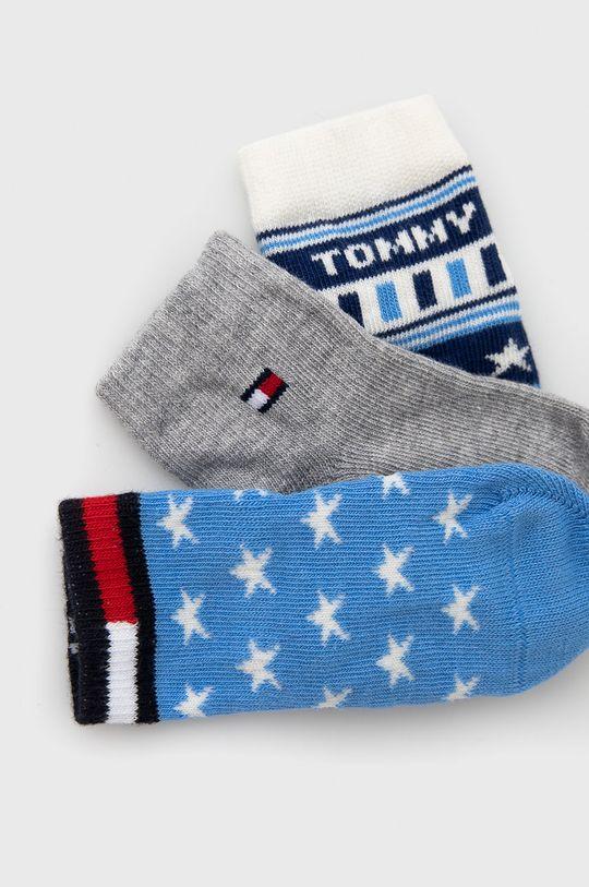 Tommy Hilfiger - Skarpetki do kaloszy dziecięce (3-pack) niebieski