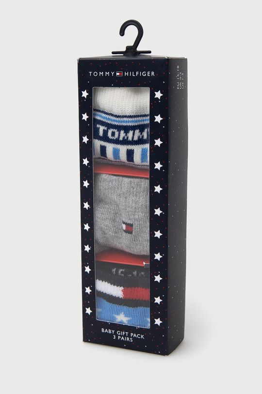 Tommy Hilfiger - Skarpetki do kaloszy dziecięce (3-pack) Materiał 1: 77 % Bawełna, 1 % Elastan, 22 % Poliamid, Materiał 2: 72 % Bawełna, 1 % Elastan, 27 % Poliamid
