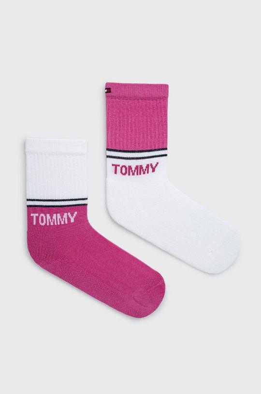 sýto ružová Tommy Hilfiger - Detské ponožky (2-pak) Detský