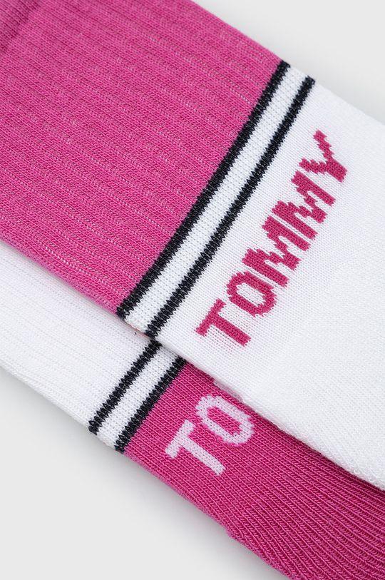 Tommy Hilfiger - Detské ponožky (2-pak) sýto ružová