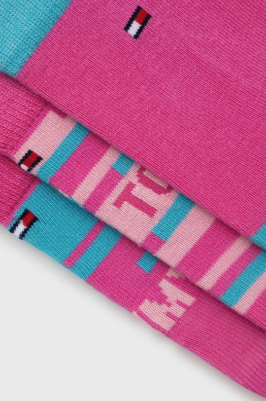 Tommy Hilfiger - Sosete copii (3-pack) roz