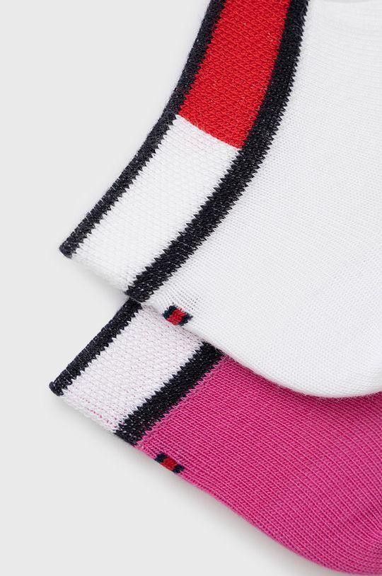 Tommy Hilfiger - Sosete copii (2-pack) roz ascutit