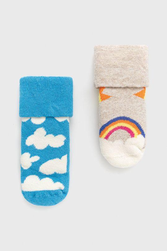 sivá Happy Socks - Detské ponožky After Sun Terry (2-pak) Detský