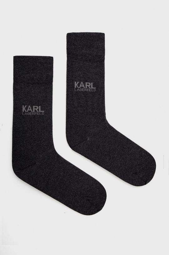 szary Karl Lagerfeld - Skarpetki Męski