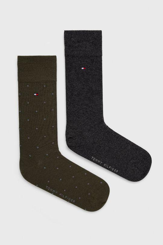 olivová Tommy Hilfiger - Ponožky (2-pack) Pánský