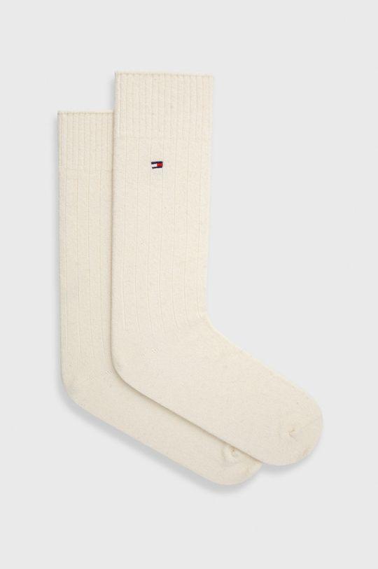 bílá Tommy Hilfiger - Ponožky ze směsi vlny Pánský