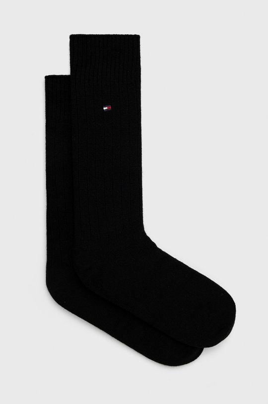 černá Tommy Hilfiger - Ponožky ze směsi vlny Pánský