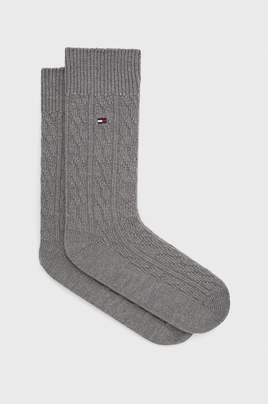 šedá Tommy Hilfiger - Ponožky ze směsi vlny Pánský