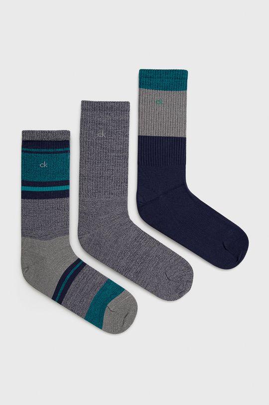 námořnická modř Calvin Klein - Ponožky (3-pack) Pánský