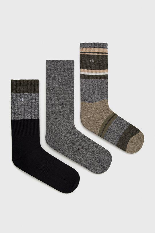 zelená Calvin Klein - Ponožky (3-pack) Pánský