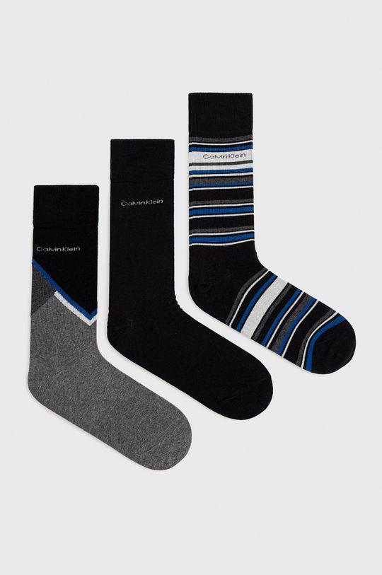 grafitová Calvin Klein - Ponožky (3-pack) Pánský
