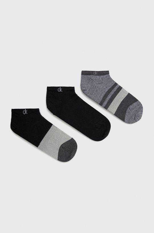 černá Calvin Klein - Ponožky (3-pack) Pánský