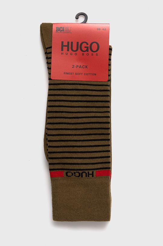 Hugo - Ponožky (2-pak)  82% Bavlna, 2% Elastan, 16% Polyamid