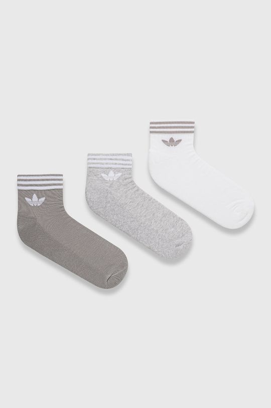svetlosivá adidas Originals - Ponožky (3-pak) Pánsky