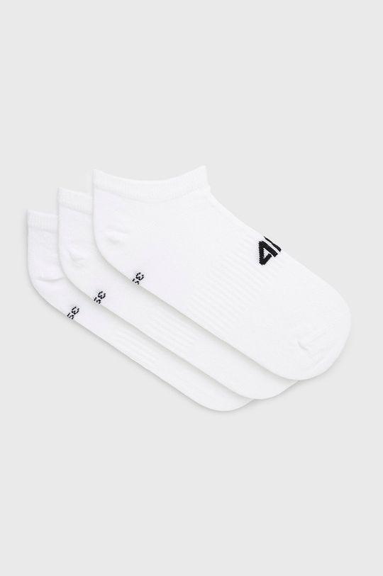 alb 4F - Sosete (3-pack) De bărbați