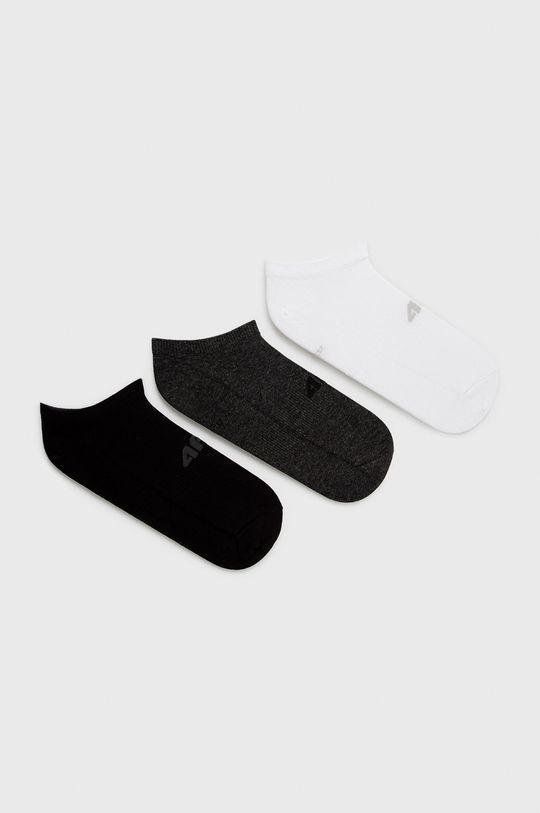 černá 4F - Ponožky (3-pack) Pánský