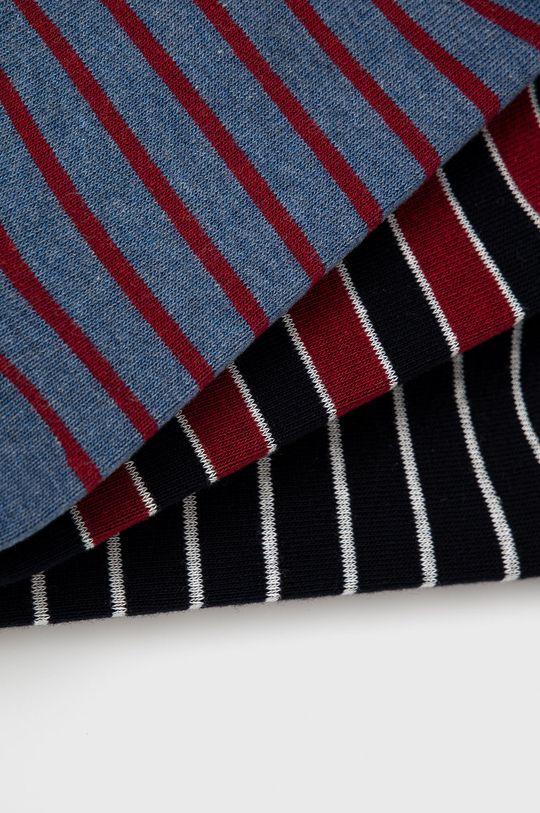 Pepe Jeans - Ponožky Burbank (3-pak) tmavomodrá