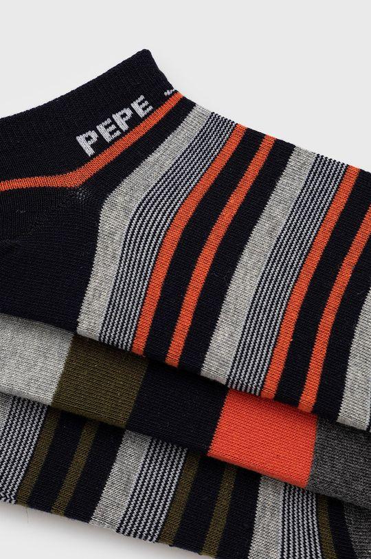 Pepe Jeans - Sosete Coleridge (3-pack) gri