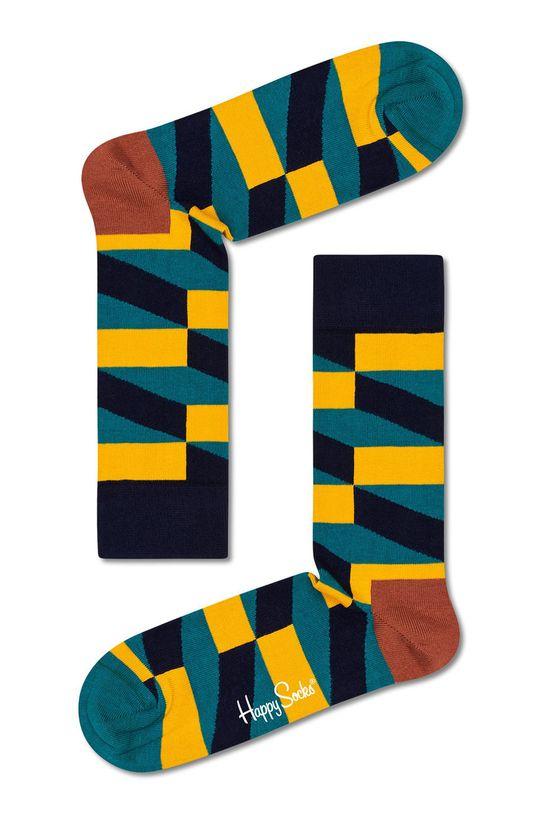 viacfarebná Happy Socks - Ponožky Jumbo Filled Optic Pánsky