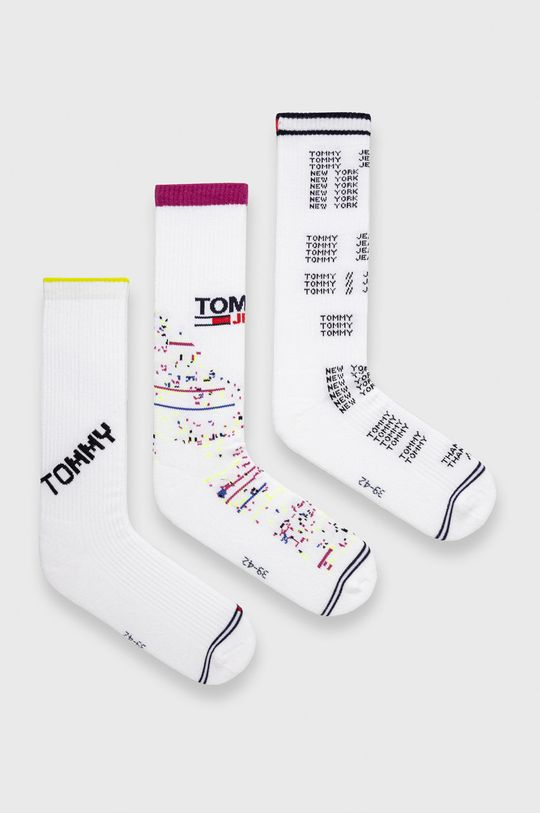 biały Tommy Jeans - Skarpetki (3-pack) Unisex