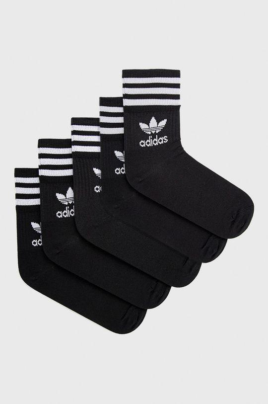 μαύρο adidas Originals - Κάλτσες (5-pack) Unisex