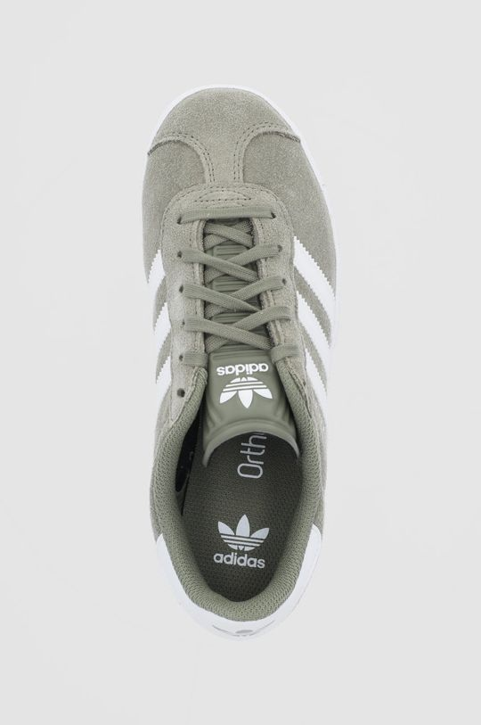 tlumená zelená adidas Originals - Dětské boty Gazelle