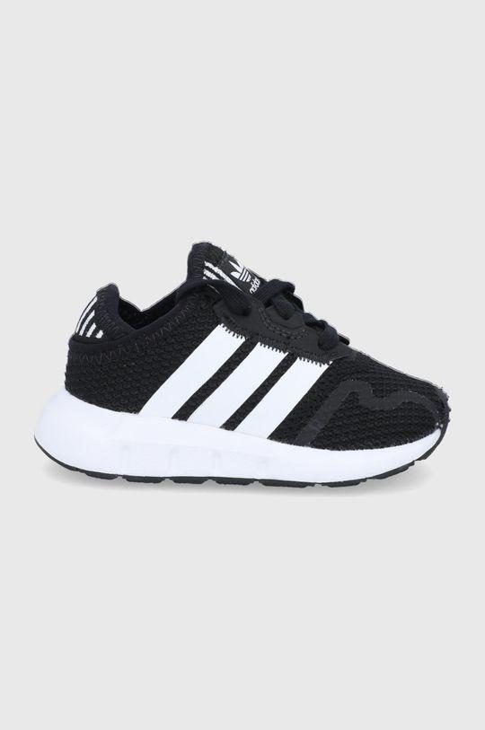 čierna adidas Originals - Detské topánky SWIFT RUN X I Chlapčenský