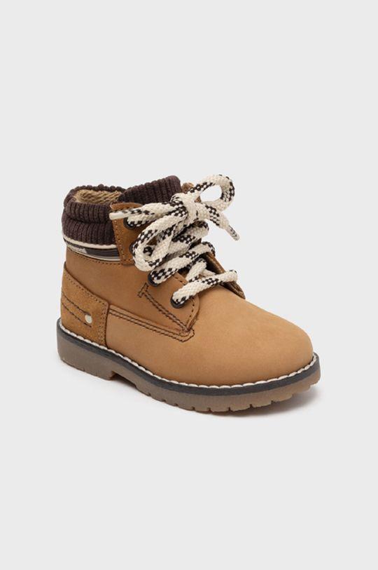 mustar Mayoral - Pantofi din piele intoarsa pentru copii De băieți