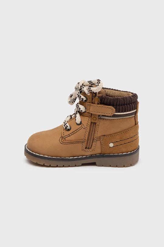 Mayoral - Pantofi din piele intoarsa pentru copii mustar