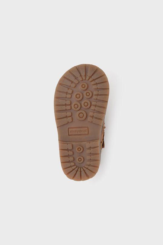 mustar Mayoral - Pantofi din piele intoarsa pentru copii