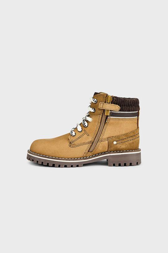Mayoral - Pantofi din piele intoarsa pentru copii cafea